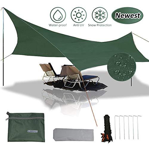 gracosy Lona de Camping,Toldo,Lona de Playa,420D Tela Oxford