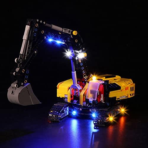 xSuper 42121 - Kit de iluminación LED para excavadora Lego 42121 Technic - Juego de construcción de juguetes para excavadora (LED incluido solamente, sin kit de lego)