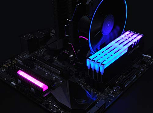EZDIY-FAB 12V RGB SATA NVMe NGFF M.2 Heatsink SSD Cooler for 2280 M.2 SSD, with Thermal Pad (SSD not Included)
