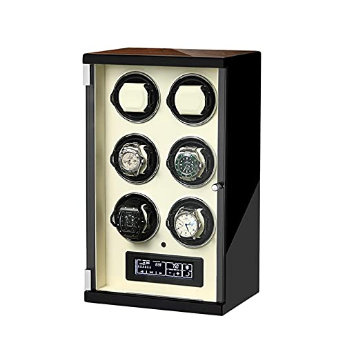 N&W Watch Winder LCD with Touch Panel Automatic Watch Winder 5 Rotation Mode Setting Suitable for Ladies and Men