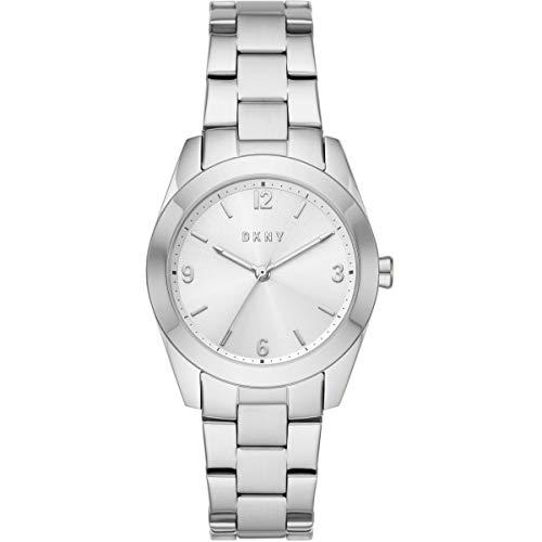DKNY Damen-Uhren Analog Quarz One Size Silber Edelstahl 87920623