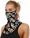 ARKIM Unisex Bandana Face Mask Scarf Face Rave Balaclava Neck Gaiters Dust Cloth Washable Wind Motorcycle Mask Women Men (Style-37)