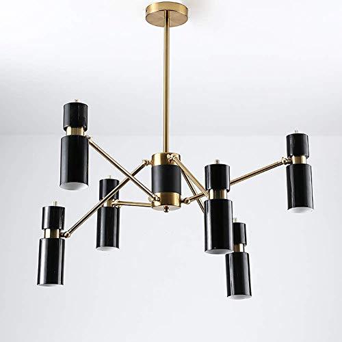 Casual Araña de Metal Retro LED de iluminación de la lámpara 110-240 6/8 lámpara del Dormitorio Sala de Estar lámpara de Hierro Forjado, 8lamp, Tamaño: 6lamp HAODAMAI (Size : 8lamp)