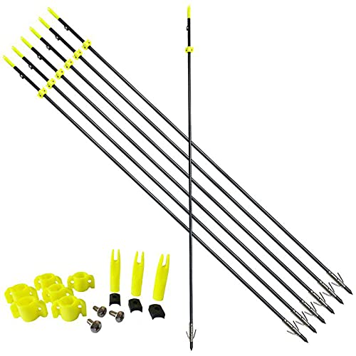 PANDARUS 34inch 8MM Bow Fishing Hunting Arrows