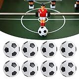 Gmkjh Pelotas de fútbol de Mesa, Accesorio de Juego de Mesa de fútbol, 8 Piezas Mini Pelotas de fútbol de Mesa de 32 mm, Accesorio de máquina de Juego de Mesa de fútbol para niños