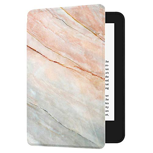 Huasiru Pintura Caso Funda para el Nuevo Kindle (10ª generación - Modelo 2019 - no es aplicable a Kindle Paperwhite o Kindle Oasis) Case Cover, Mármol Rosa