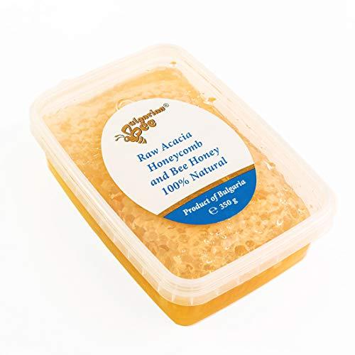 700 g de Nid d'Abeille au Miel d'Acacia Cru, Naturel, Pur, Frais directement de la ruche, produit absolument réel.