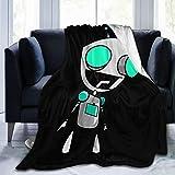 Invader Zim Gir Super Soft Blankets for Home Decoration, Living Room/Bedroom Blankets Black 80'X60'