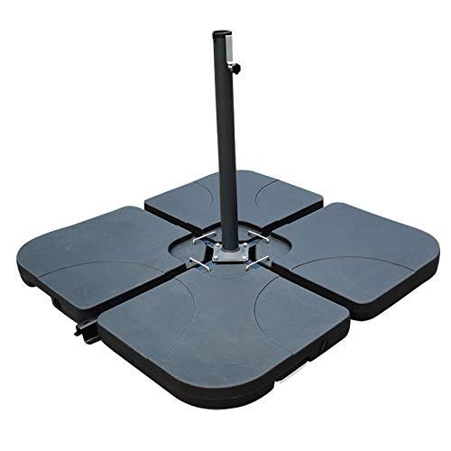 Wangkangyi - Juego de 4 soportes para sombrillas con base en cruz (cuadrado)