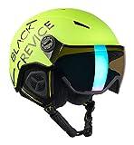 Black Crevice Unisex - Casco da sci Vail con visiera, colore: giallo fluo, M (55-58 cm)