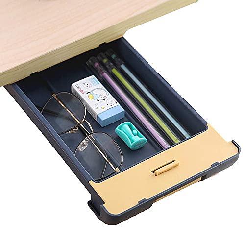 Cajones Para Escritorio Azul Cajones Para Debajo De Escritorio - 29x15x3.5cm - Cajon Debajo Adhesivo para Almacenamiento De Escritorio