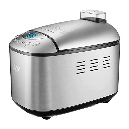 LMCLJJ Automatic Bread Maker Pound Stainless Steel Bread Maker Machine With 15 Programs Cycles Fruit Nut Dispenser 3 Loaf Sizes 3 Crust Colors 15 Hours Delay