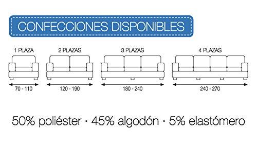 Martina Home Tunez, Copridivano elastico, Tela (50% poliestere, 45% cotone, 5% elastan), Rosso, 2 Posti (120-190 cm larghezza)