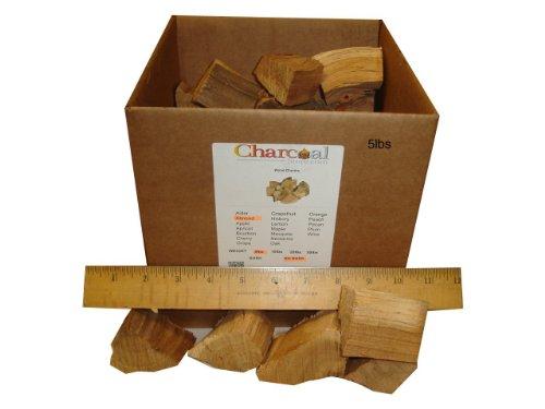 CharcoalStore Almond Wood Smoking Chunks - Bark (5 pounds)