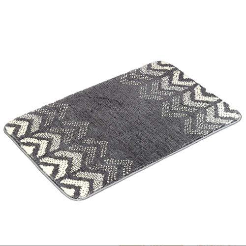 LHJY Ultralabsorbierende Innenraumholz-Fußmatten, rutschfeste Gummi-Boden-Badematte, Für Haustür Badezimmer Küche Waschküche Einstiegsdekor (Support-Anpassung)(Size:40x60cm(15.7x23.6in),Color:A1)