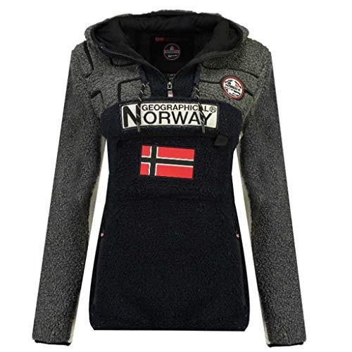 Geographical Norway Riakolo Fleecepullover für Damen, Blouson, Blau X-Large