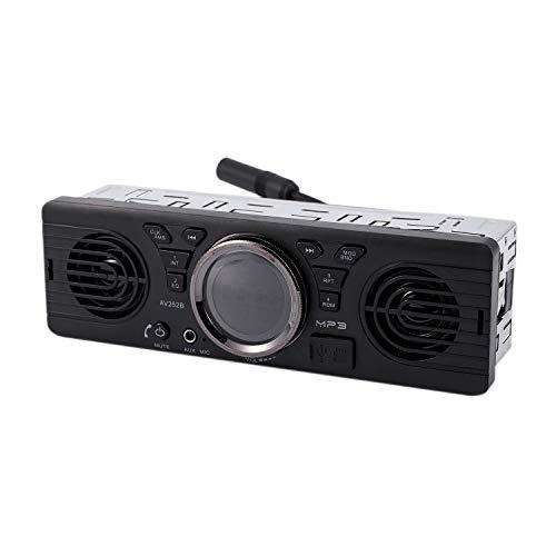 CUHAWUDBA Av252B 12V 2.1 EDR Vehículo Electrónico En El Tablero Mp3 Reproductor De Audio Estéreo Coche Radio FM