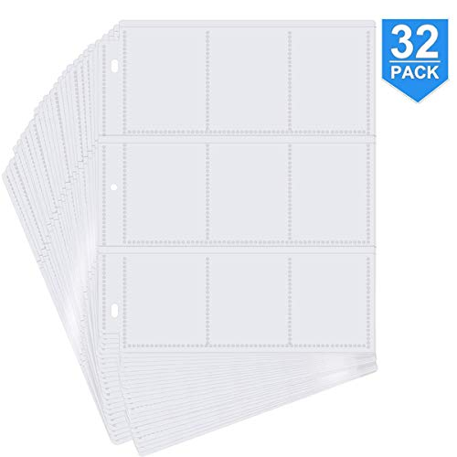 POKONBOY 288 Pockets Trading Card Storage Album Pages Card Collector...
