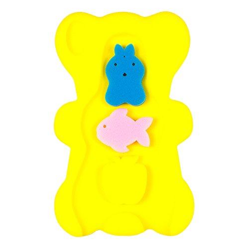 BEWAVE Cómodo Cojín de Esponja Para Baño Para Bebés, Alfombra de Baño Antideslizante, Amarillo