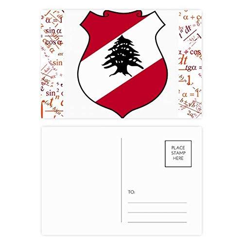 Libanon Asien Nationalemblem Formula Postkarten-Set Dankeskarte Versandseite 20 Stück