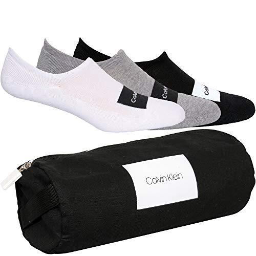 Calvin Klein Men Liner 3p Bag Joey Calzini, Combo grigio, Taglia unica Uomo