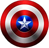 Capitán America Shield Metal, Niños/AdultosPlay Apoyos Superhero Retro Shield Halloween 75 Aniversario Gloria COLECCIÓN, Decoraciones De La Pared De La Pared,60cm