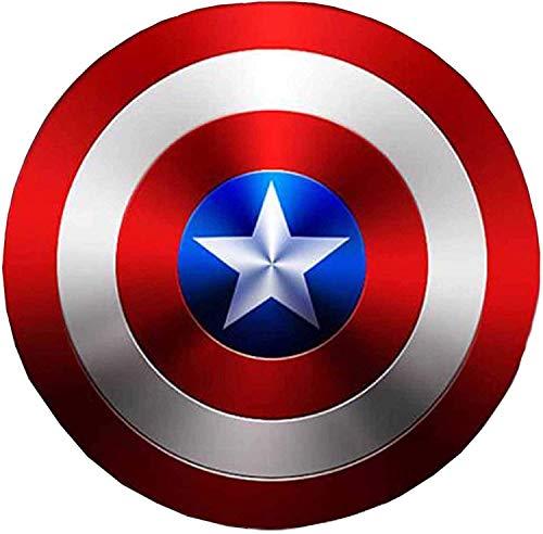 SKINGO Capitan America Scudo in Metallo Puntelli Cosplay Supereroe Costume retrò Scudo Halloween 75 ° Anniversario Scudo Americano per Adulti Bambini Decorazioni da Bar, 3 Dimensioni,60cm