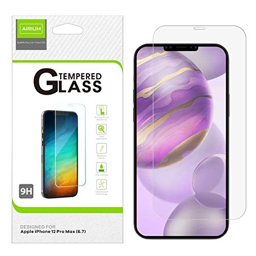 Airium Airium Tempered Glass Screen Protector 2.5d for Apple iPhone 12 Pro Max 6.7 - Clear for Apple iPhone 12 Pro Max 6.7 - Clear