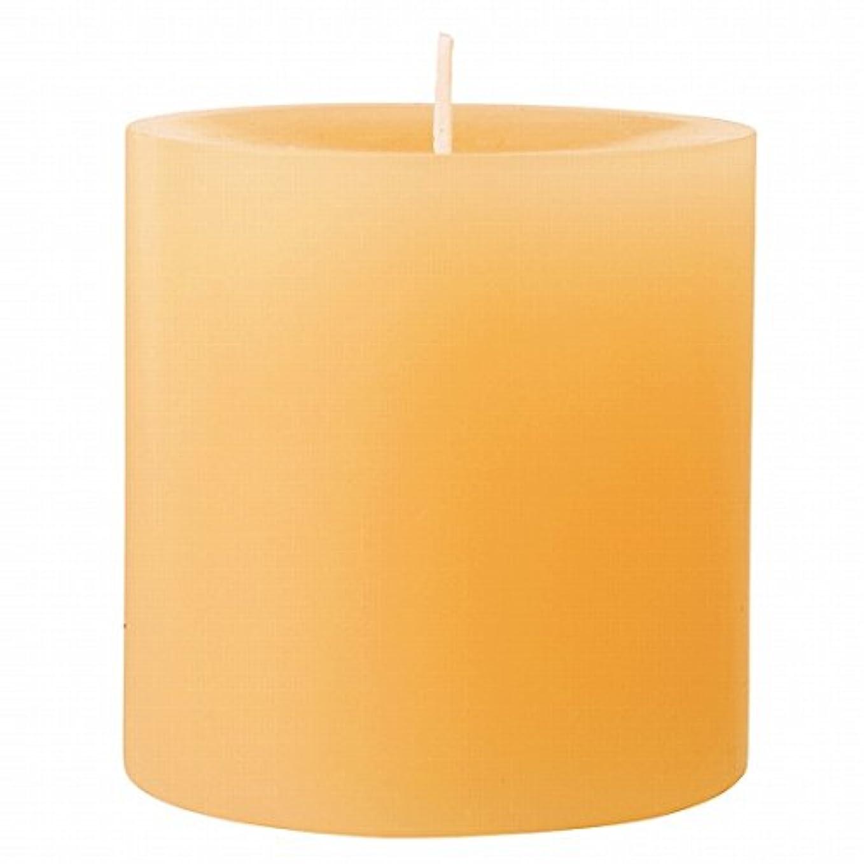 であること柔らかさピクニックカメヤマキャンドル(kameyama candle) 75×75ピラーキャンドル 「 ベージュ 」