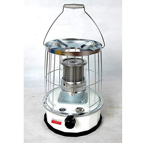 Manija blanca compacta queroseno calentador de aceite acero y vidrio cubierta de la chimenea, ajustable Termostato, camping cubierta Estufa al aire libre empaqueta el sistema, tiendas de campaña, de c
