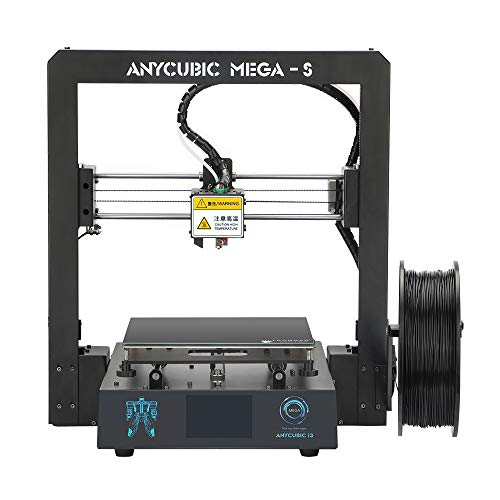 ANYCUBIC Mega-S New Upgrade 3D Printer with Extruder and Suspended Filament Rack + Free 1kg PLA Filament