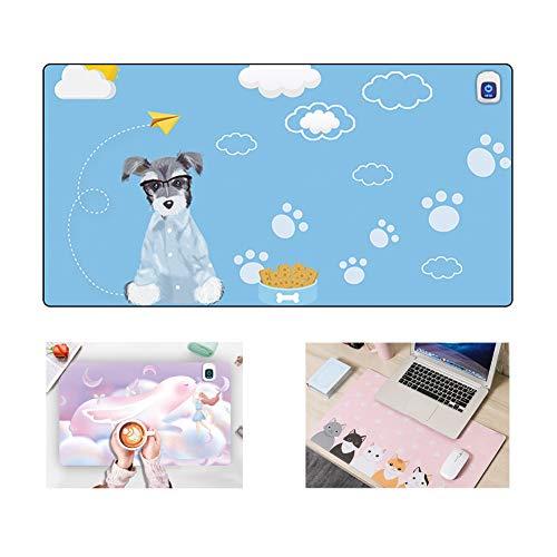 SAKURAM Büro Warme Tischmatte/Mauspad Student Schreibtischmatte Wasserdichter Elektrische Heizung Pad Beheizte Tischmauswärmer Beheiztes Mauspad - Hund