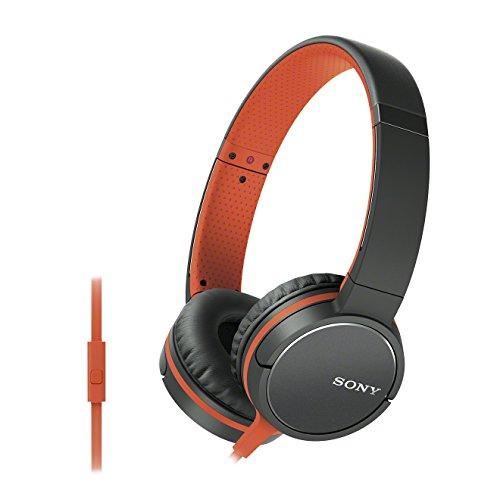 Sony MDR-ZX660AP Auriculares Supraurales de Diadema (con Micrófono, Control Remoto Integrado), Naranja, Talla Única