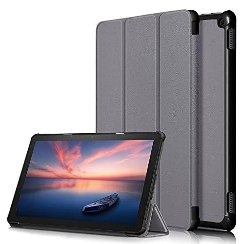 Yhuisen Cubierta DE Folio SMARTO Lighte with con Tri-Flow Stop Case para Kindle Fire HD 10 2021 / FUED HD 10 Plus 2021 (Color : Gris, Size : Fire HD 10 2021)