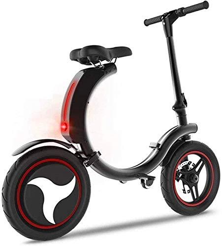 RDJM Bici electrica Bicicletas eléctricas rápidas for adultos Pequeño plegable eléctrico Batería de Litio for bicicletas.Adulto de dos ruedas de la bicicleta.El de 14 pulgadas Neumáticos 18 kilometros