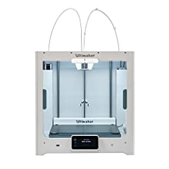 Newest large-format 3D printer from Ultimaker Dual extrusion capability for multi material prints Premium materials used in construction. Heated bed smooths prints and allows for ABS printing. The innovative Print Core system allows for simple swappi...