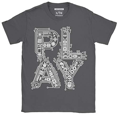 6TN heren spelen klassiek retro spel controller t-shirt