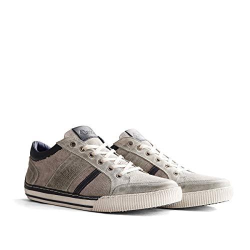 NoGRZ W.Buckland Canvas und Leder Herren Sneakers | Grau EU 43