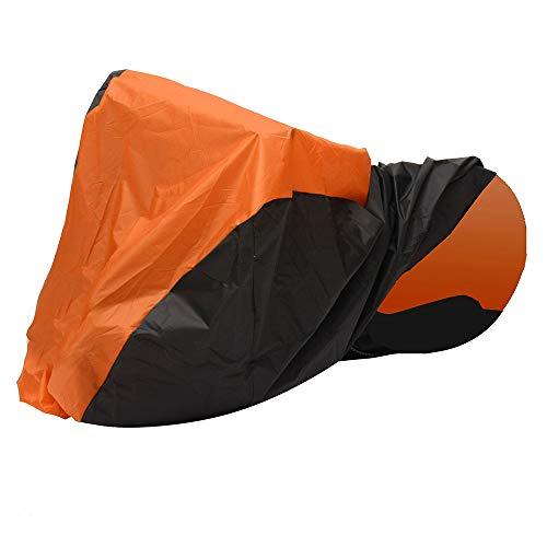 YONGYAO 245x105x125cm Impermeable al Aire Libre Moto Funda Transpirable para Scooter Anti-UV-Naranja