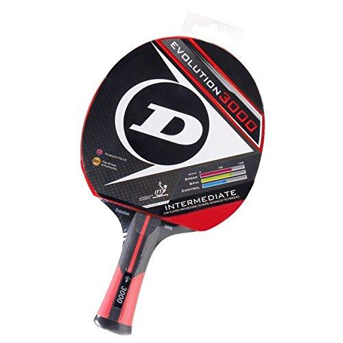 Dunlop Tischtennisschläger fortgeschrittene 3000 Unisex Evo Sport Zubehör, Red, One Size,