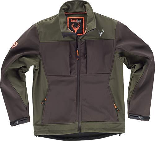 Work Team Cazadora workshell con dos bolsillos laterales y 2 bolsillos en pecho. combinada. HOMBRE Marron/Verde Caza L