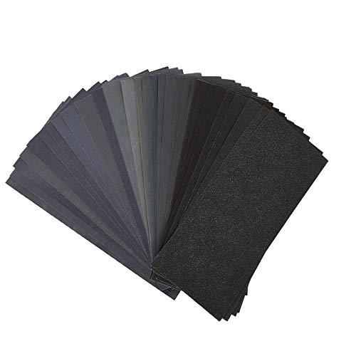 紙ヤスリ サンドペーパー 耐水ペーパー 研磨紙 木工作業 ホビー 紙やすり 36枚セット 12種類 (120 180 240 320 400 600 800 1000 1500 2000 2500 3000 各3枚)