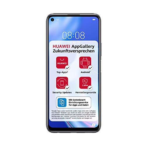 HUAWEI P40 lite 5G Dual-SIM Smartphone BUNDLE (16,51cm(6,5 Zoll), 128 GB ROM, 6 GB RAM, Android 10.0 AOSP ohne Google Play Store, EMUI 10.1.1) Midnight Black [Exklusiv +5 EUR Amazon Gutschein]