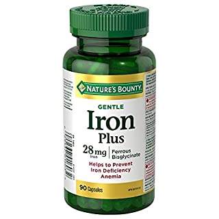 Nature's Bounty Gentle Iron Supplement, Helps Prevent Iron Deficiency Anemia, 28mg, 90 Capsules (B00BMEHTQ6) | Amazon price tracker / tracking, Amazon price history charts, Amazon price watches, Amazon price drop alerts