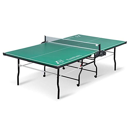 EastPoint Sports Dominator Table Tennis Table - 18mm - Features Foldable Table with on Center Net and Table Tennis Paddle and Ball Storage