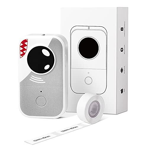 Phomemo D30 Mini niedlicher Etikettendrucker- Bluetooth Thermoetikettendrucker Unterstützt Endlospapier und Transparentpapier, geeignet für Organisation, Büro, Zuhause, Küche,Lebensmittelbehälter