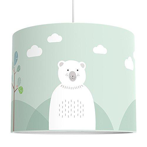 LALAVI Lampenschirm fürs Baby- und Kinderzimmer (Ø 40 cm) - Für Deckenlampe oder Stehlampe - Mit...