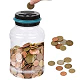 TIMESETL Digital hucha contador euros, Automático Moneda Contando Caja de Dinero, Caja de Ahorro de Monedas Euro Caja de Ahorro Eléctrico Contando Gran Capacidad para Niños y Adultos