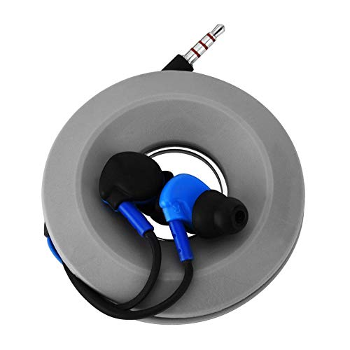 SODIAL Automatique Enrouleur Ecouteur de Cable Earphone Corde Ecouteur Casque Rangement Noir Earphone Corde Winder R