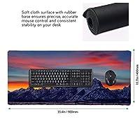 山 海 マウスパッド ゲーミングマウスパット デスクマット キーボードパッド 滑り止め 高級感 耐久性が良い デスクマットメ キーボード パッド おしゃれ ゲーム用(90cm*40cm)